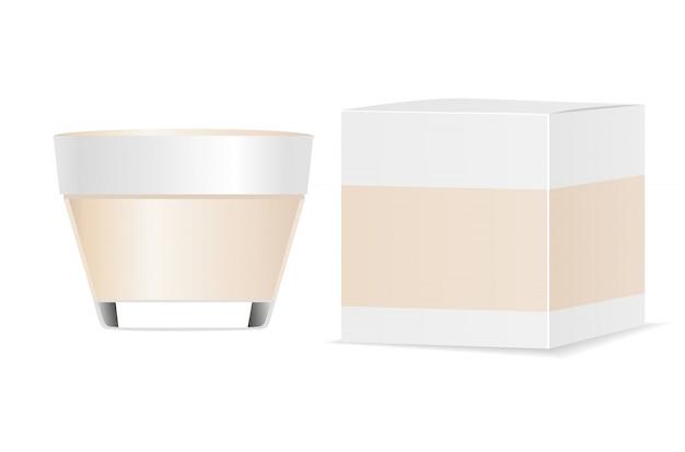 Pojemnik Kosmetyczny I Opakowanie Papierowe Premium Wektorów