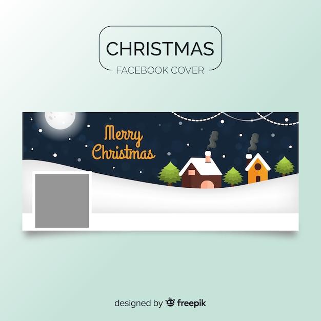 Pokrowce na świąteczną okładkę na facebooku Darmowych Wektorów