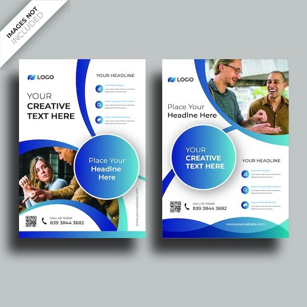 Pokrywa broszury Premium Wektorów
