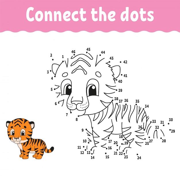 Połącz kropki, gra rysunkowa dla dzieci Premium Wektorów
