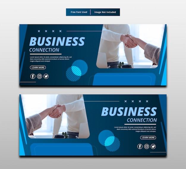 Połączenie Biznesowe Baneru. Premium Wektorów