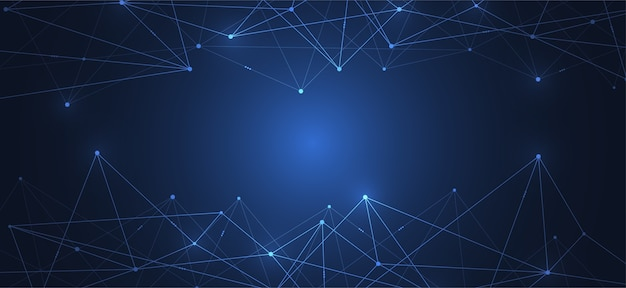 Połączenie Internetowe, Abstrakcyjne Poczucie Nauki I Technologii Premium Wektorów