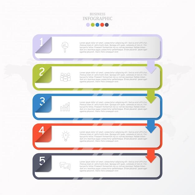 Pole na szablon infographic tekstu Premium Wektorów