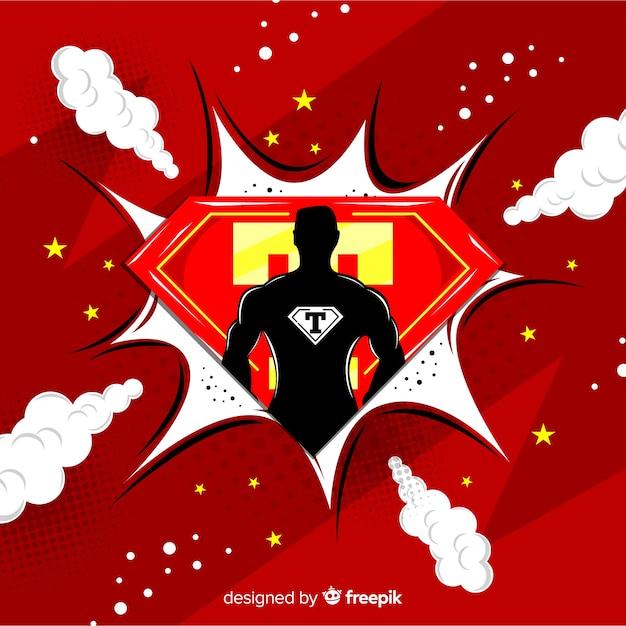 Półtony superbohatera tło Darmowych Wektorów