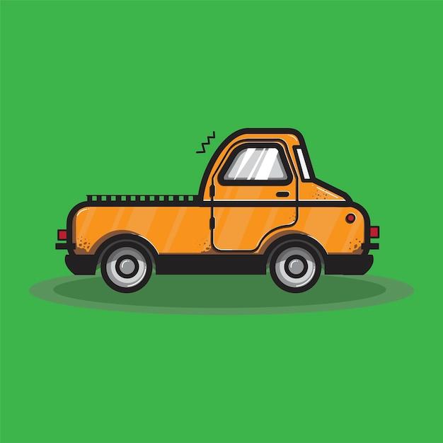 Pomarańczowa Ciężarowa Transport Grafiki Ilustracja Darmowych Wektorów