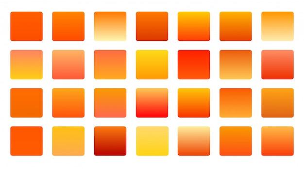 Pomarańczowe Odcienie Gradienty Duże Ustawione Tło Darmowych Wektorów