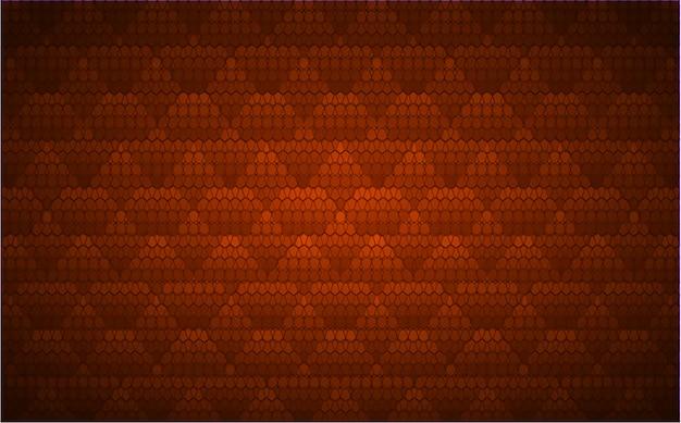 Pomarańczowy Ekran Kinowy Led Do Prezentacji Filmów. Lekki Abstrakcjonistyczny Technologii Tło Premium Wektorów