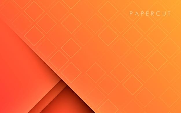 Pomarańczowy Gładkie Tło Gradientowe Tekstury Papercut Premium Wektorów