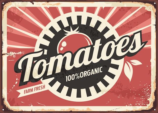 Pomidory retro znak Premium Wektorów