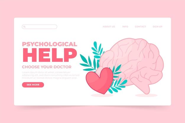 Pomoc Psychologiczna - Landing Page Darmowych Wektorów