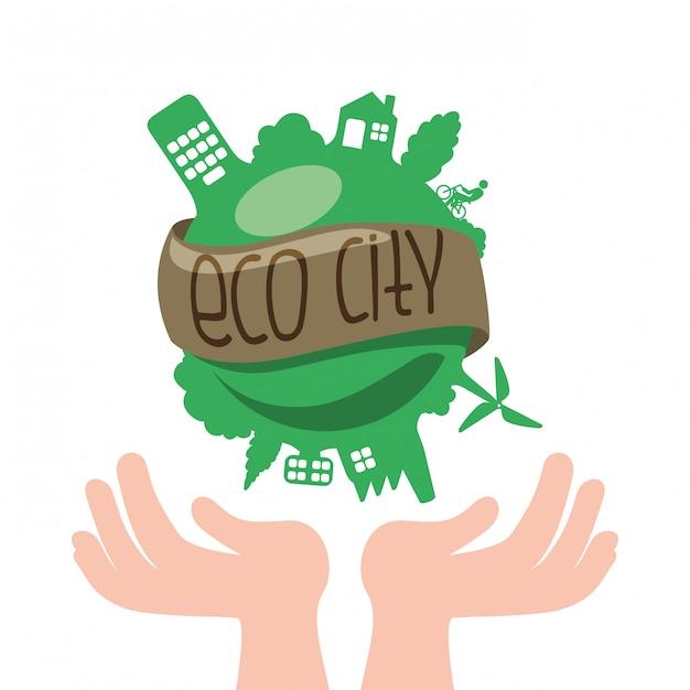 Pomyśl O Zielonym Projekcie Premium Wektorów