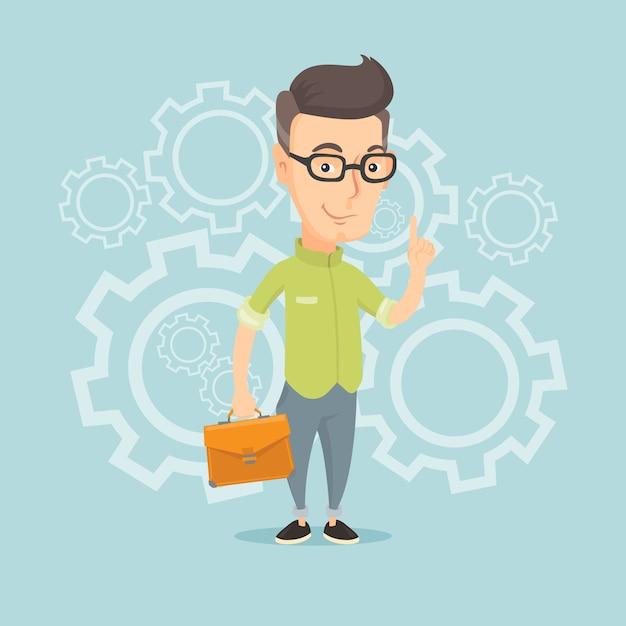 Pomyślna Biznesowa Pomysł Ilustracja. Premium Wektorów