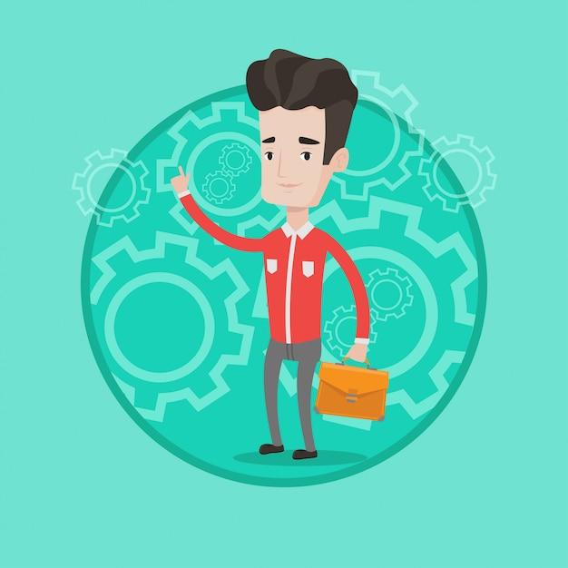 Pomyślna Biznesowa Pomysłu Wektoru Ilustracja. Premium Wektorów