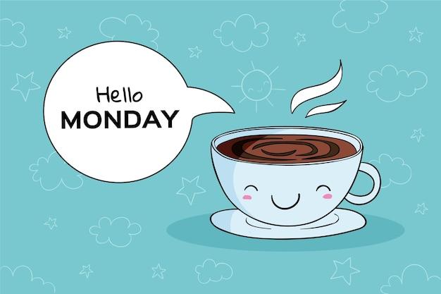 Poniedziałkowa Tapeta Premium Wektorów
