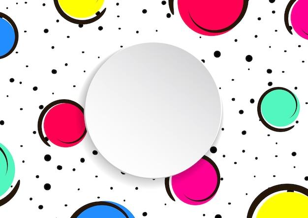Pop-artu Kolorowe Konfetti Tło Premium Wektorów