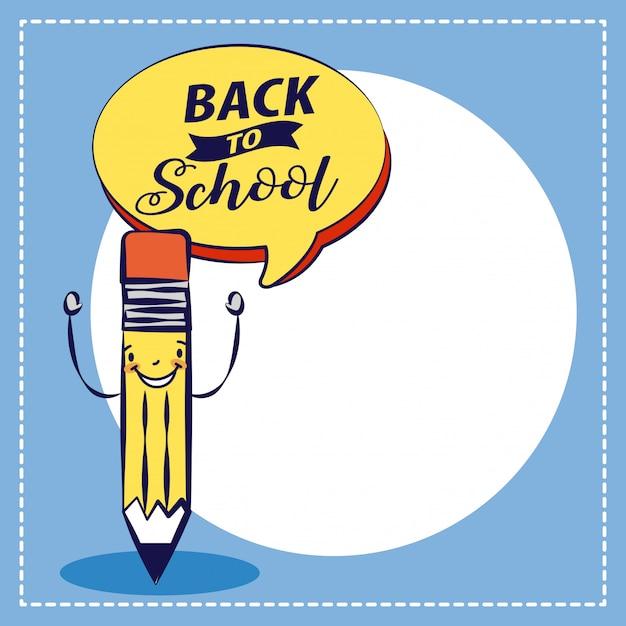 Popiera Szkoły Ilustracyjna Ołówek Szkoła Elemnts Ilustracyjna Darmowych Wektorów
