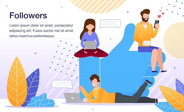Popularność W Sieci Społecznościowej Premium Wektorów