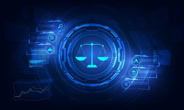 Porady Prawne Koncepcja Usług Technologii Z Biznesem Pracującym Z Nowoczesnym Komputerem Ui. Premium Wektorów