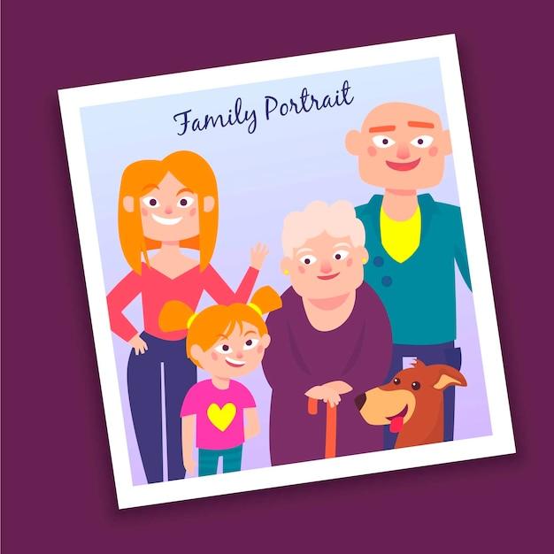 Portret rodzinny Darmowych Wektorów