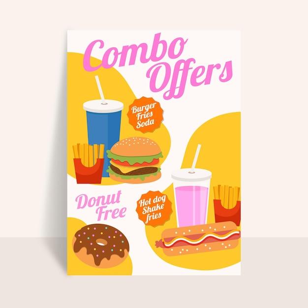 Posiłki Combo - Plakat Darmowych Wektorów