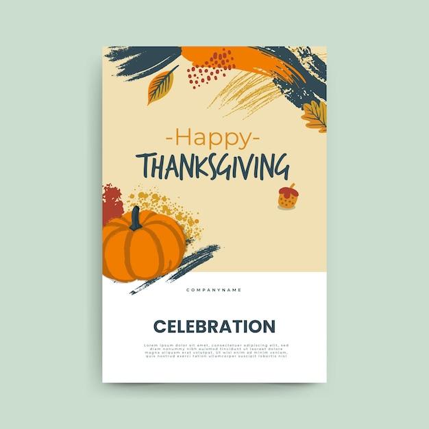 Post Na Blogu Na święto Dziękczynienia Darmowych Wektorów