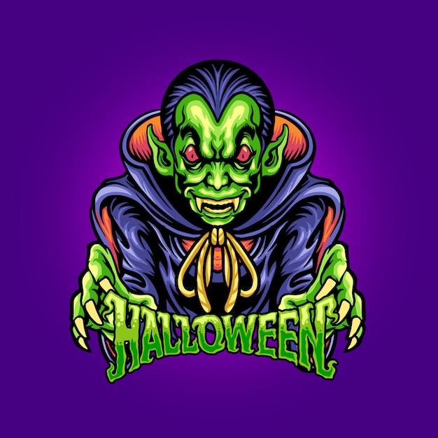 Postać Potwora Halloween Premium Wektorów