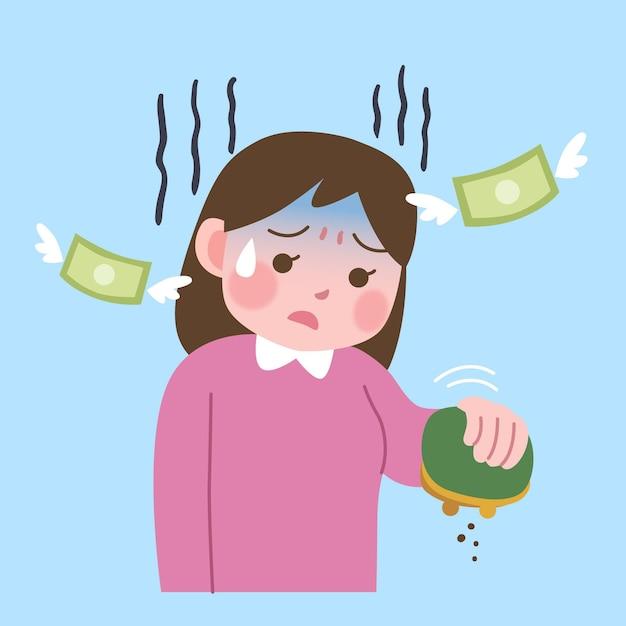 Postać Traci Pieniądze Darmowych Wektorów