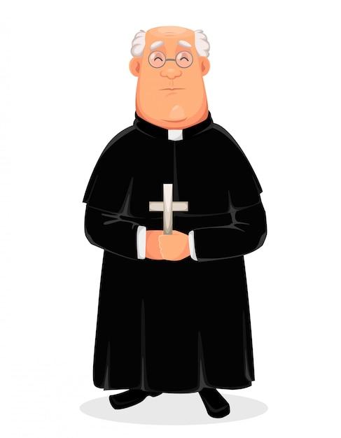 Postać Z Kreskówki Ksiądz, Ojciec święty Premium Wektorów