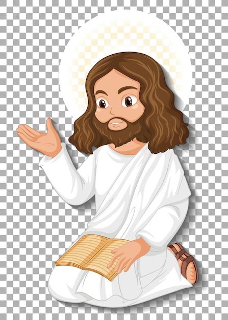 Postać Z Kreskówki Na Białym Tle Jezusa Darmowych Wektorów