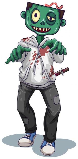 Postać zombie Darmowych Wektorów