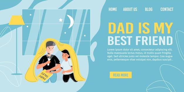 Postacie Ojca I Syna Spędzają Razem Czas Premium Wektorów