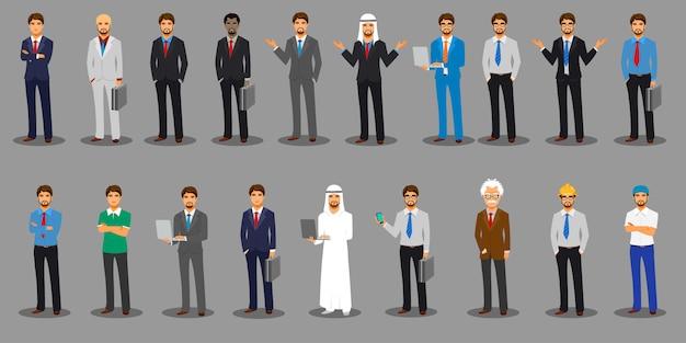 Postacie świata biznesu Premium Wektorów