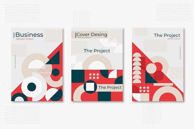 Postmodernistyczny Zestaw Okładek Biznesowych Darmowych Wektorów