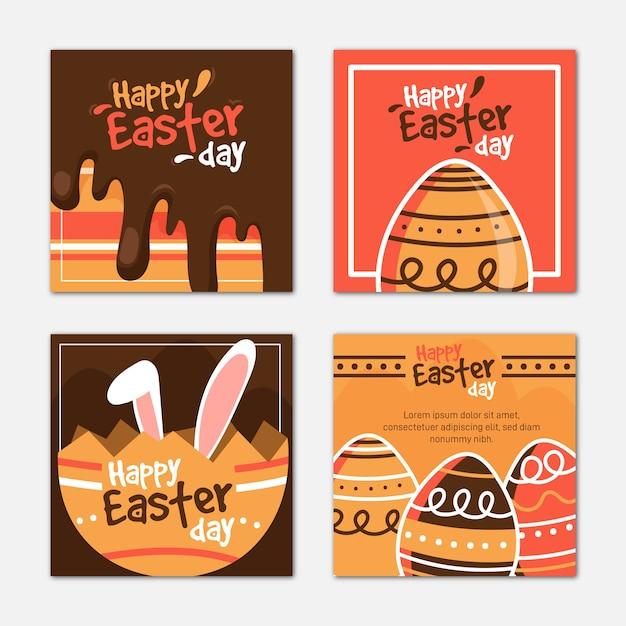 Posty Na Instagramie W Dzień Wielkanocy Darmowych Wektorów
