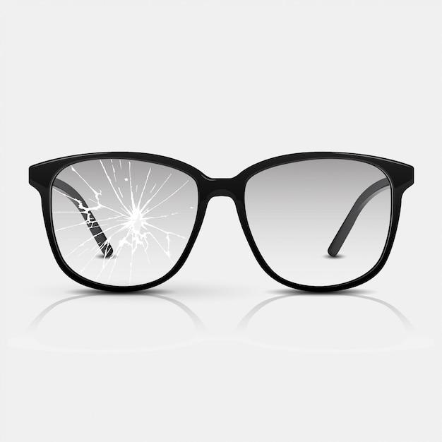 Potłuczone Okulary. Premium Wektorów