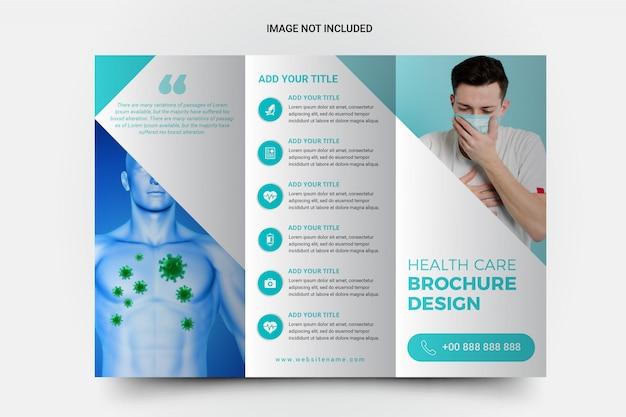 Potrójne Broszury Medyczne I Dotyczące Opieki Zdrowotnej Premium Wektorów
