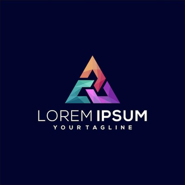 Potrójne Logo Trójkątne Premium Wektorów