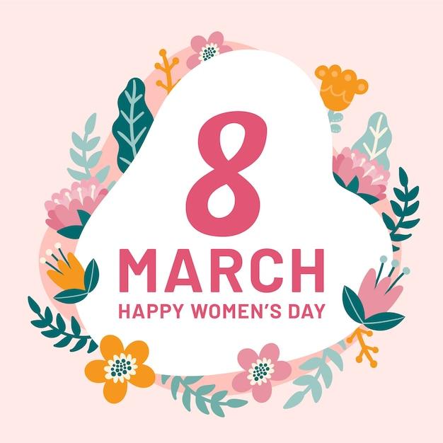 Powitanie Międzynarodowego Dnia Kobiet Darmowych Wektorów
