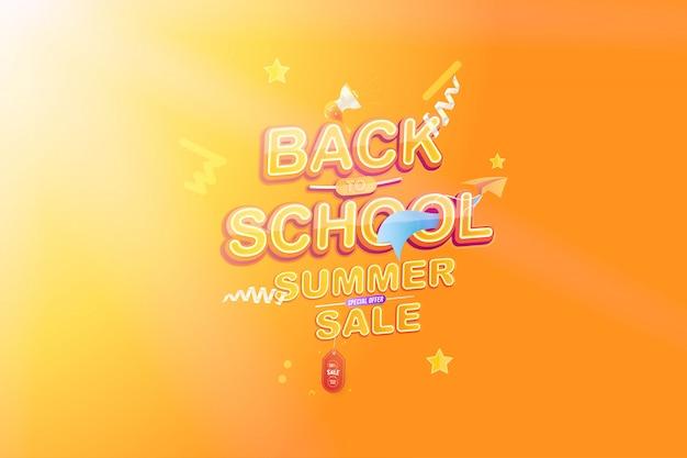 Powrót do letniej sprzedaży szkolnej Premium Wektorów