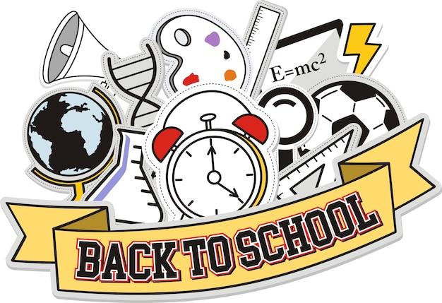 Powrót Do Szkoły, Ilustracji Wektorowych Premium Wektorów