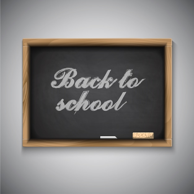 Powrót do szkoły tablica tło Premium Wektorów