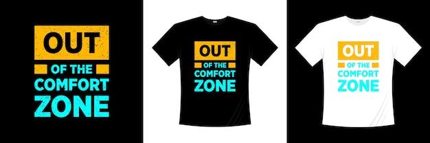 Poza Projektem Koszulki Typograficznej Strefy Komfortu. Koszulka Z Motywacją, Inspiracją. Premium Wektorów
