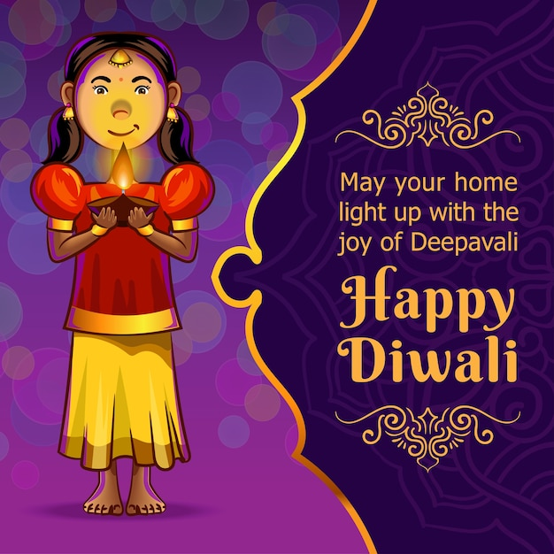 Pozdrowienia Diwali Premium Wektorów