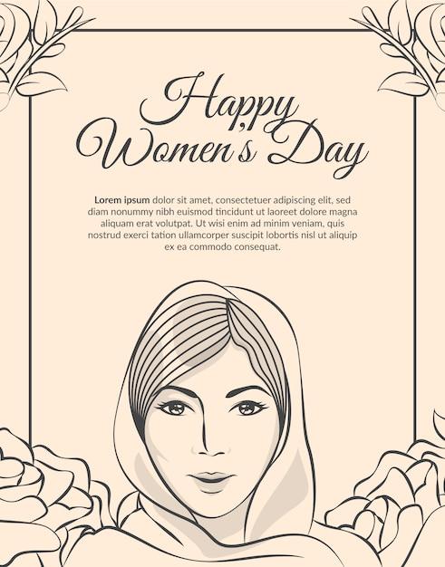 Pozdrowienia Z Okazji Dnia Matki / Dnia Kobiet Premium Wektorów