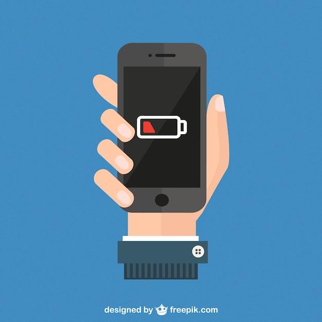 Poziom baterii smartfonów wektor Darmowych Wektorów