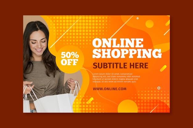 Poziomy Baner Na Zakupy Online Darmowych Wektorów