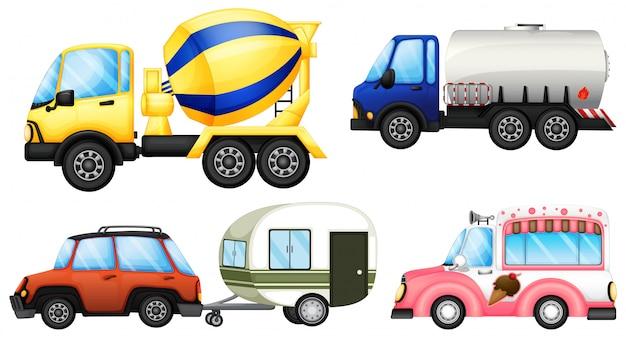Pożyteczne pojazdy Premium Wektorów