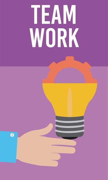 Praca Zespołowa I Wsparcie Premium Wektorów