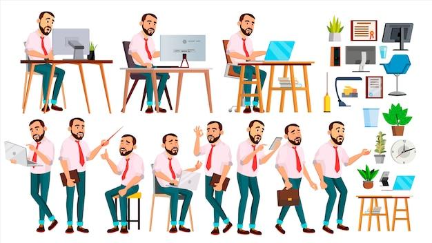 Pracownik biurowy Premium Wektorów