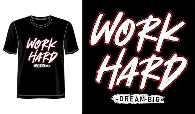 Pracuj Ciężko, Miej Wielkie Marzenia Premium Wektorów